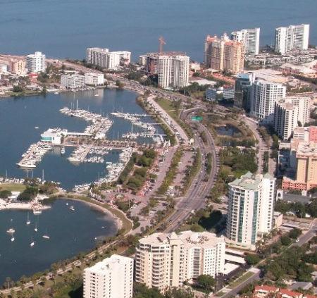 downtown sarasota florida ariel
