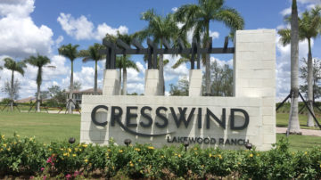 Cresswind Lakewood Ranch Entry Sign